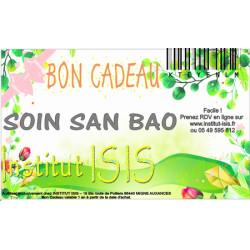 Bon Cadeau Soin San bao